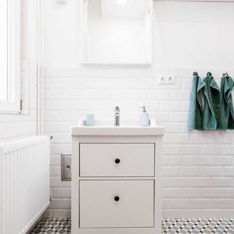 Photo d'une salle de bain aménagée