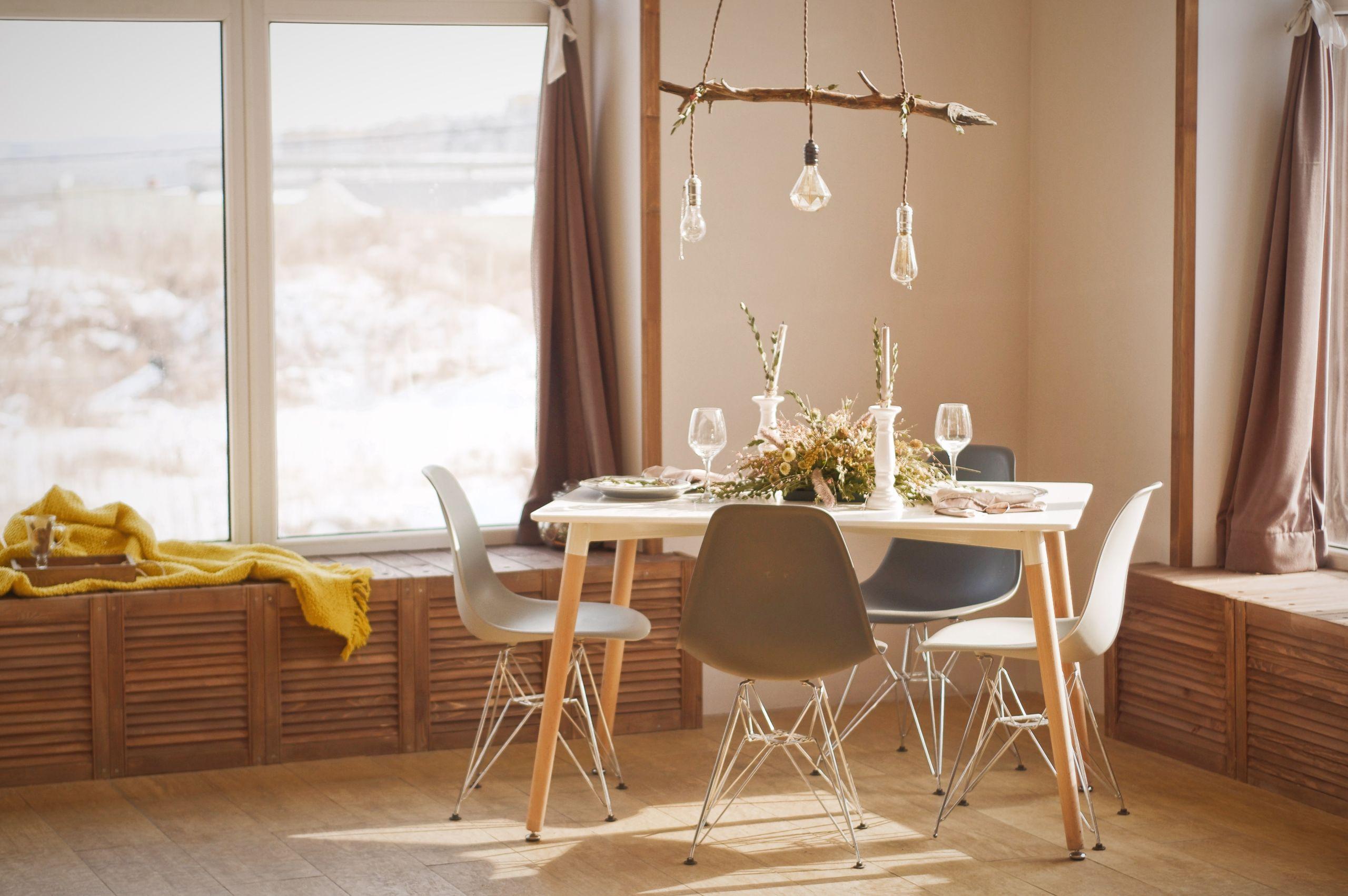 Photo d'une salle à manger décoration scandinave