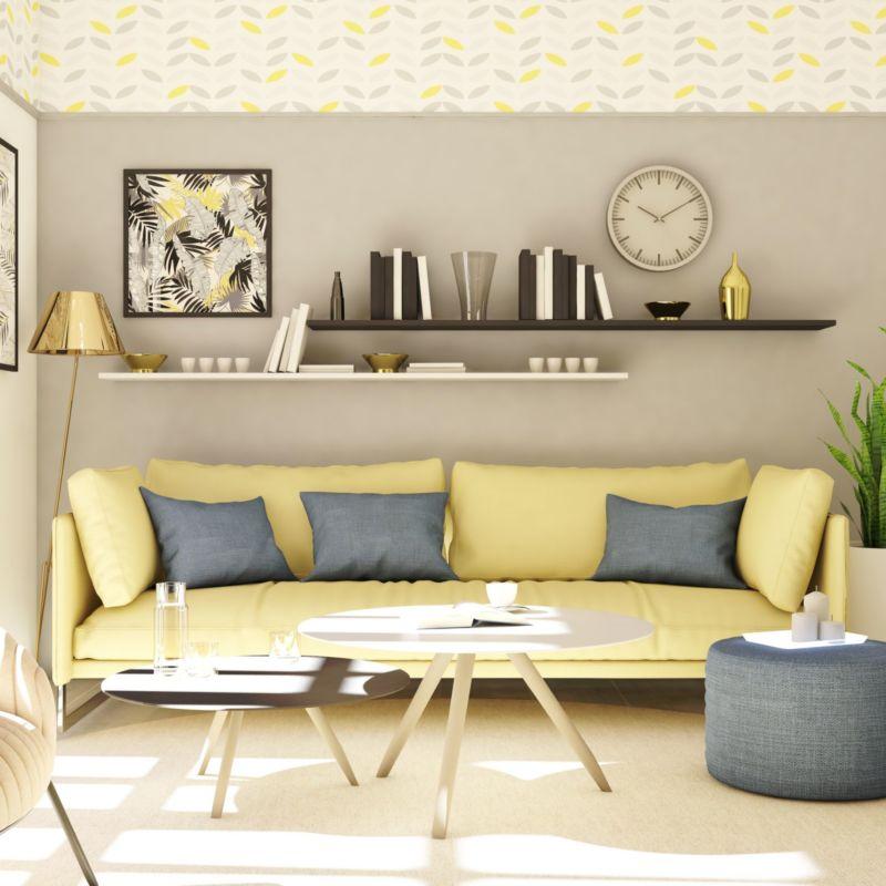Photo d'un salon décoration scandinave