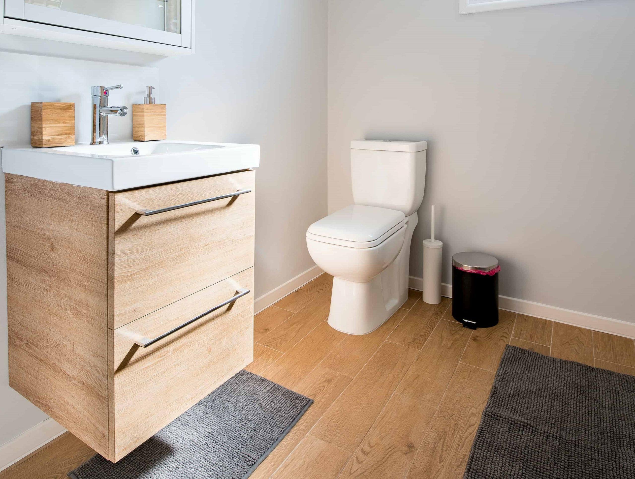 Photo de WC dans la salle de bain
