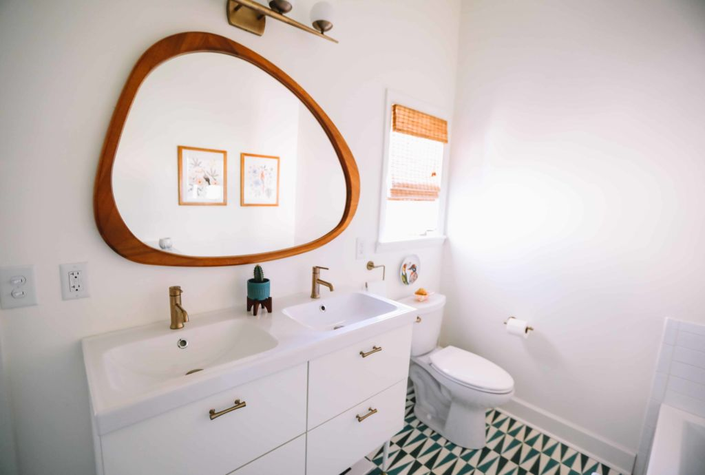 Sol de salle de bain en PVC