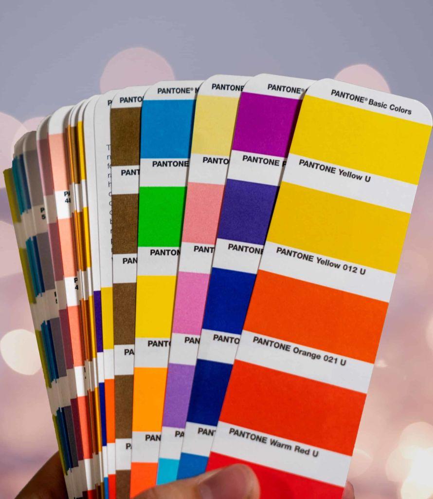 Photo de palettes de couleurs pantone