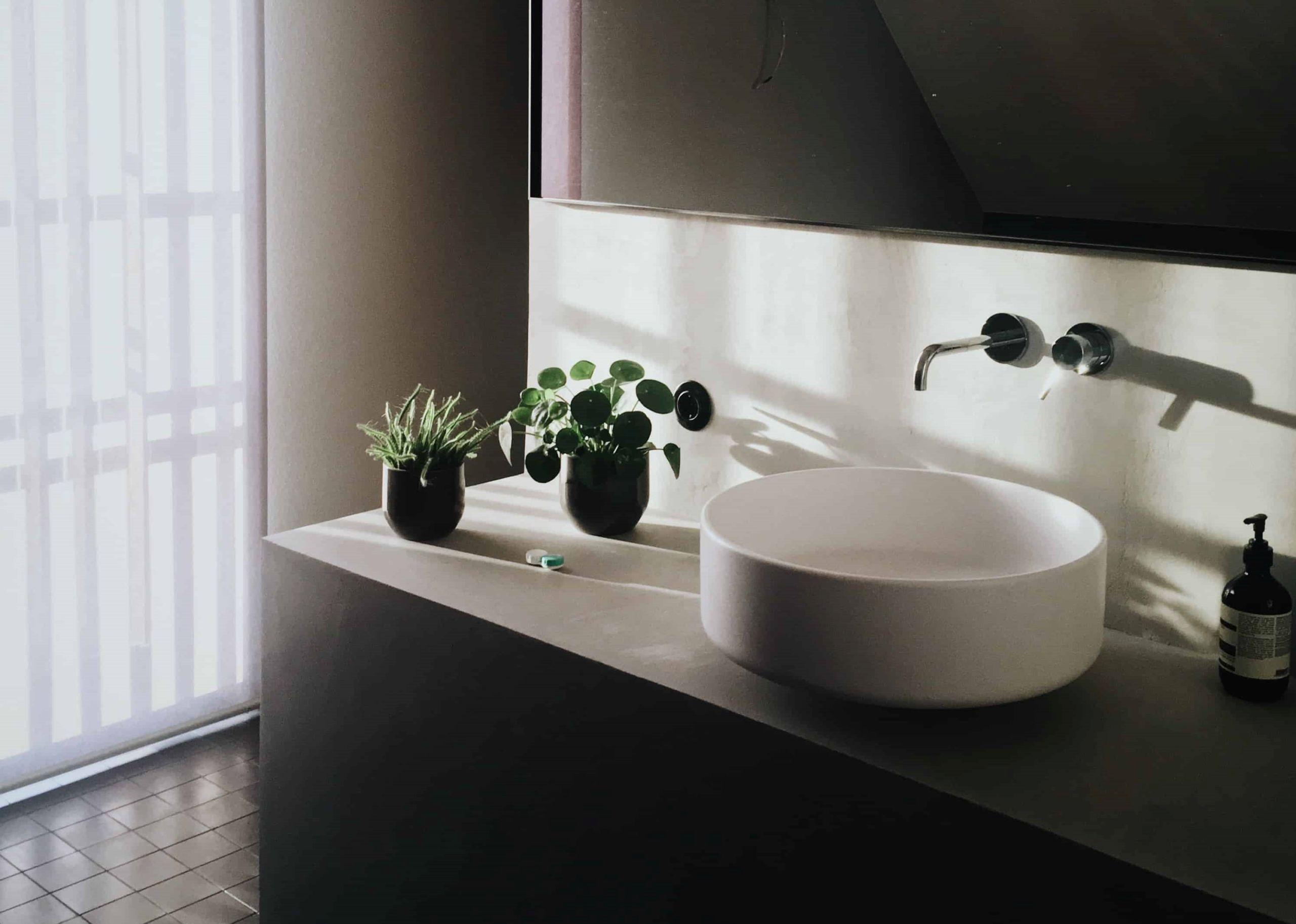 Photo d'une vasque posée ronde